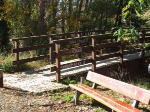 Pintadas en el puente de tablas