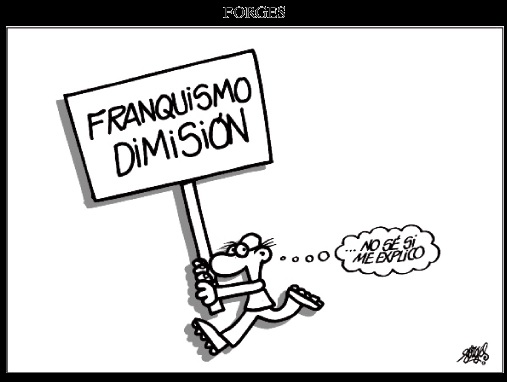 Forges franquismo dimisión