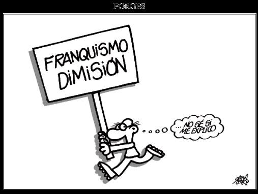Forges franquismo dimisión