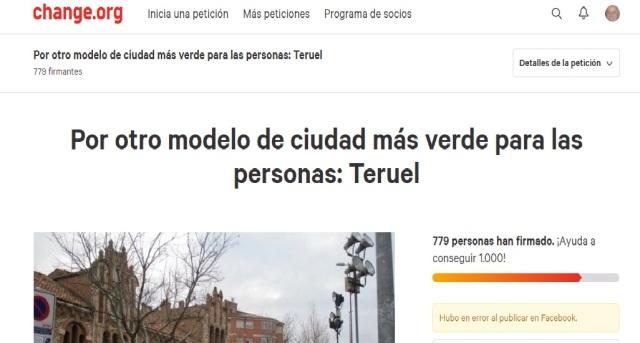 Portada peticion por un Teruel más verde