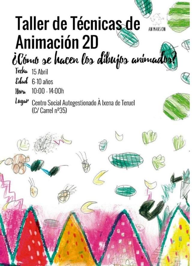 Taller dibujos animados CSA a Ixena
