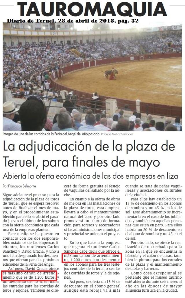 Adjudicación Plaza Toros Teruel