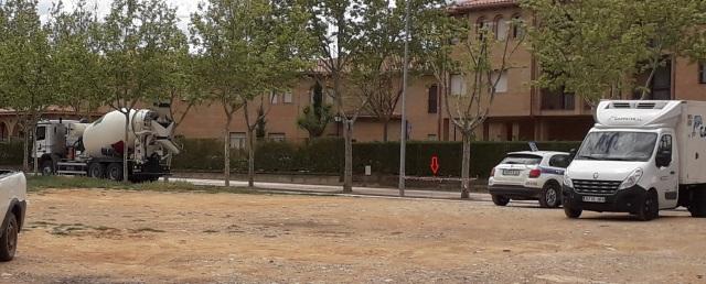 Alcorque se tapa en Tarazona de Aragón