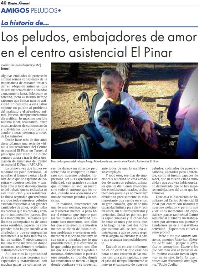 Chispi en el encuentro con residentes de El Pinar