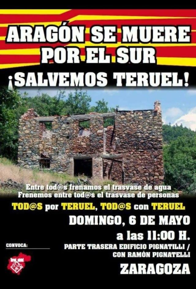 Manifestacion Teruel Existe Zaragoza