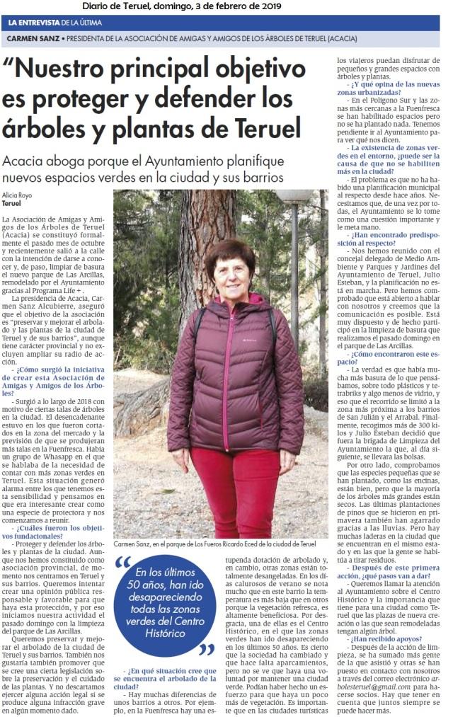 Entrevista a Carmen, Amigas árboles